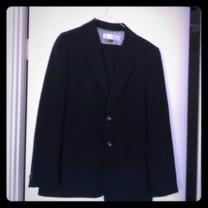 Tahari ASL black polyester pantsuit